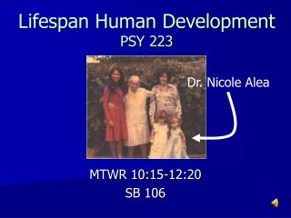Lifespan Human Development  PSY 223