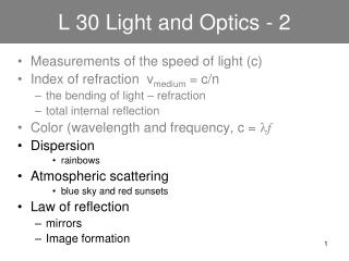 L 30 Light and Optics - 2