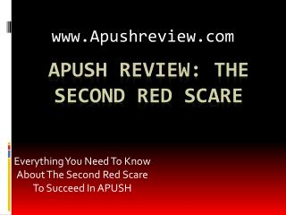 APUSH Review: The Second Red Scare