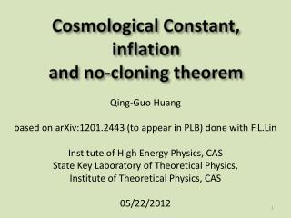 Qing-Guo Huang based on arXiv:1201.2443 (to appear in PLB) done with  F.L.Lin