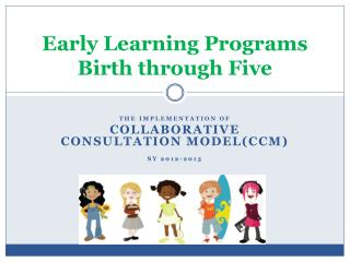 Early  Learning Programs  Birth through Five