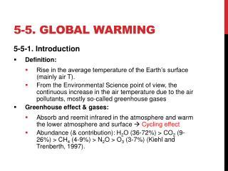 5-5. Global warming