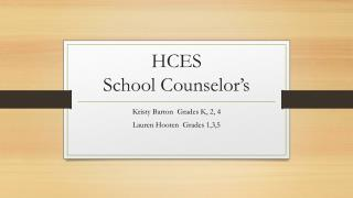 HCES  School Counselor�s