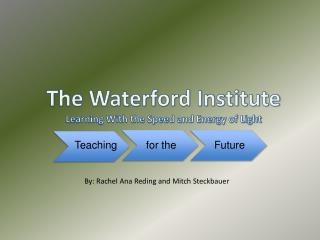 The Waterford Institute Learning With the Speed and Energy of Light