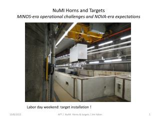 NuMI  Horns and Targets MINOS-era operational challenges and NOVA-era expectations