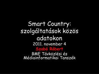 Smart  Country: szolgáltatások közös adatokon
