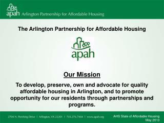 The Arlington Partnership for Affordable Housing