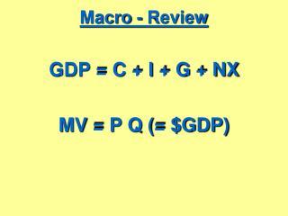 Macro - Review