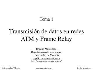 Tema 1 Transmisión de datos en redes ATM y Frame Relay