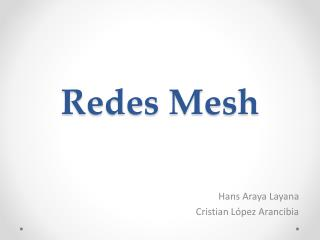 Redes Mesh