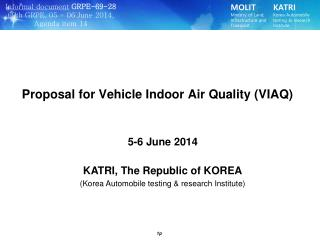 KATRI, The Republic of KOREA (Korea Automobile testing & research Institute)