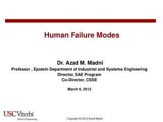 Human Failure Modes