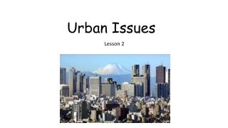 Urban Issues