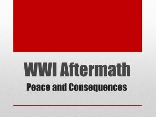 WWI Aftermath