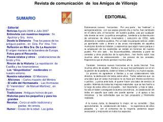 Revista de comunicaci n  de  los Amigos de Villorejo