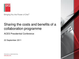 Sharing the costs and benefits of a collaboration programme