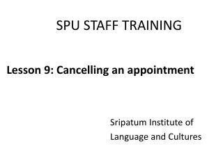 SPU STAFF TRAINING