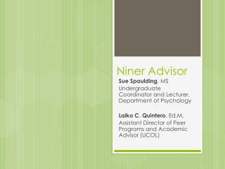 Niner  Advisor