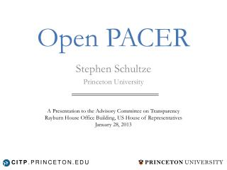 Open PACER