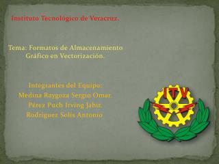 Instituto Tecnológico de Veracruz. Tema: Formatos de Almacenamiento Gráfico en Vectorización.