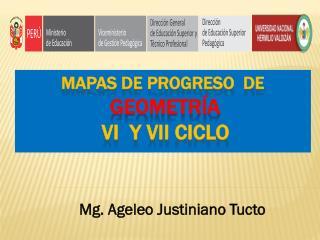 MAPAS DE PROGRESO  de geometría  VI  y  vii  CICLO