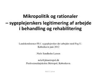 Mikropolitik  og rationaler