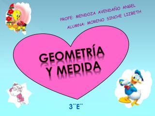 Geometr�a y  medida