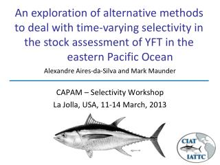 CAPAM – Selectivity Workshop La Jolla, USA,  11-14 March, 2013