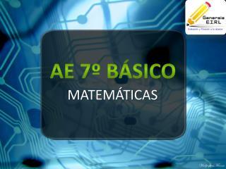 AE 7º BÁSICO