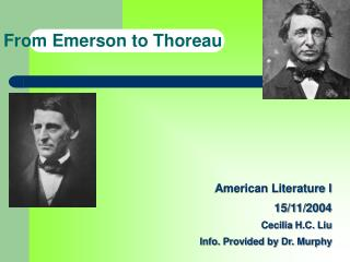 From Emerson to Thoreau