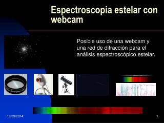 Espectroscopia estelar con webcam