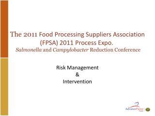 Risk Management  & Intervention