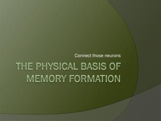 The physical basis of memory formation