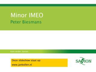 Minor IMEO