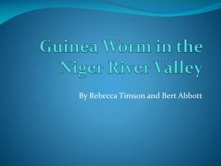 Guinea Worm in the Niger River Valley