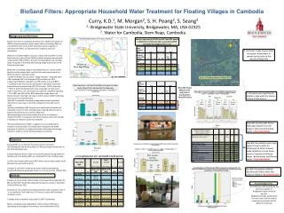 BioSand  Filters: Appropriate Household Water Treatment for Floating Villages in Cambodia