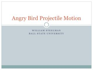 Angry Bird Projectile Motion