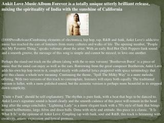 Ankit Love Music Album Forever is a totally unique utterly b