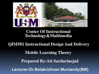 Center  Of Instructional            Technology&Multimedia