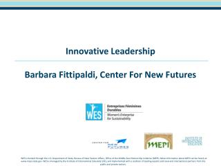 Innovative Leadership Barbara  Fittipaldi , Center For New Futures
