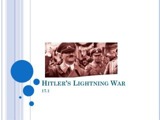 Hitler's Lightning War