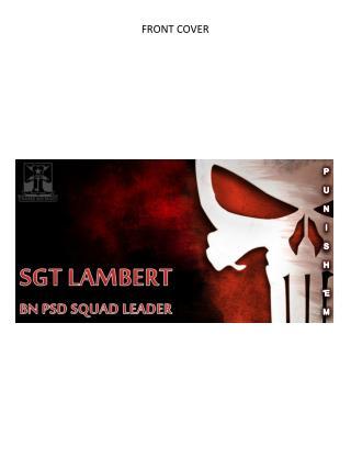 SGT LAMBERT BN PSD SQUAD LEADER