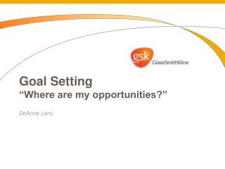 """Goal Setting """"Where are my opportunities?"""""""