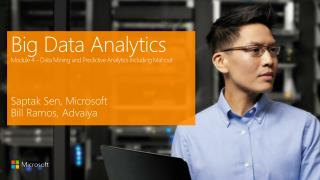 Big Data Analytics Module 4 – Data Mining and Predictive Analytics Including Mahout