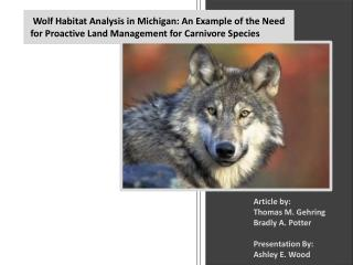 Article  by:  Thomas M. Gehring Bradly  A. Potter Presentation By: Ashley E. Wood