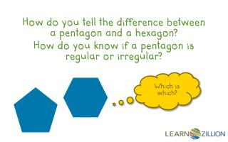 How do you tell the difference between a pentagon and a hexagon?