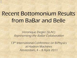 Recent Bottomonium Results from BaBar and Belle
