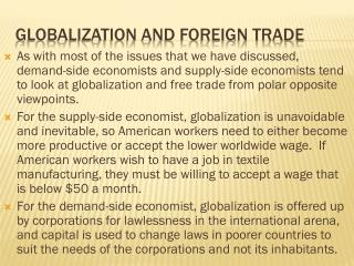 Globalization and foreign trade