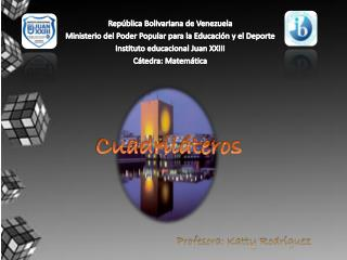 República Bolivariana de Venezuela Ministerio del Poder Popular para la Educación y el Deporte