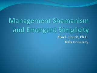 Management Shamanism and Emergent Simplicity